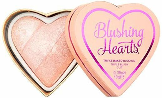 Makeup Revolution I Heart Makeup Blushing Hearts Blush Peachy Pink Kisses Róż