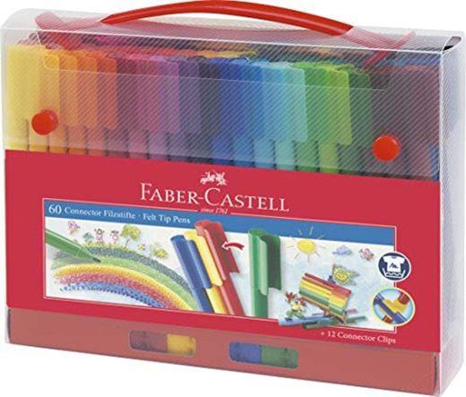 Faber-Castell 155560 - Maletín con 60 rotuladores