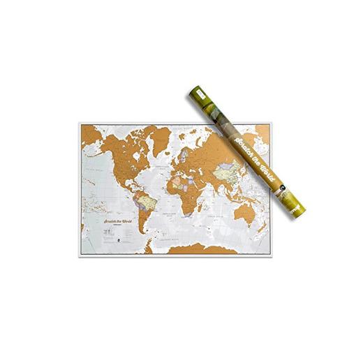 Mapa Mundi de Rascar - ¡Rasca los lugares a los que viajes!