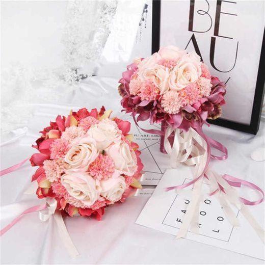 Ramo de flores artificiales con flores de seda