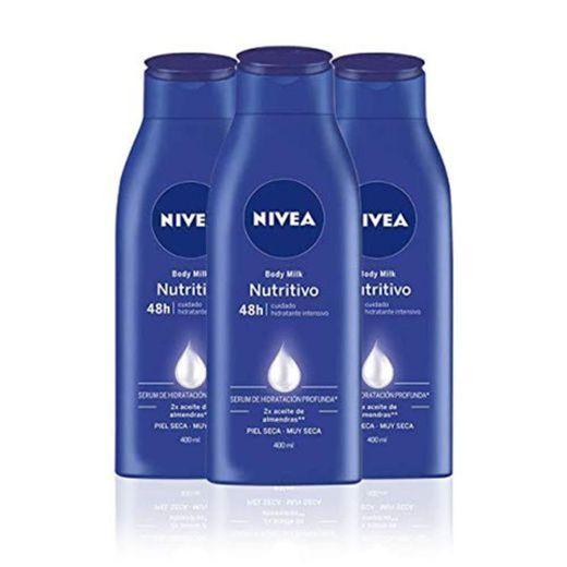 NIVEA Triplo Body Milk Nutritivo - Pack de 3 x 400 ml