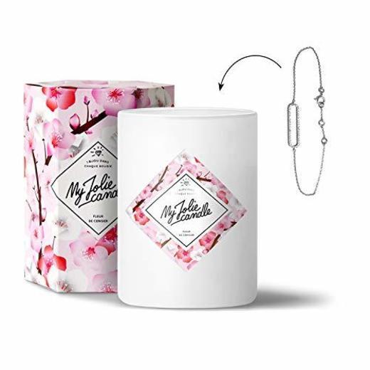 Vela-joya con aroma de flor de cerezo–Pulsera