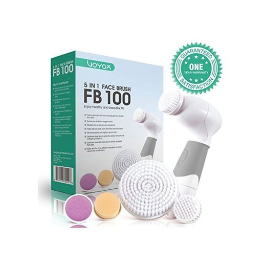 VOYOR 5 En 1 Cepillo Limpiador Facial Electrico Limpieza Facial Minimizador de