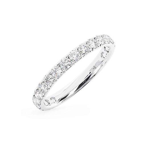 Anillo de eternidad con diamantes brillantes redondos de 1