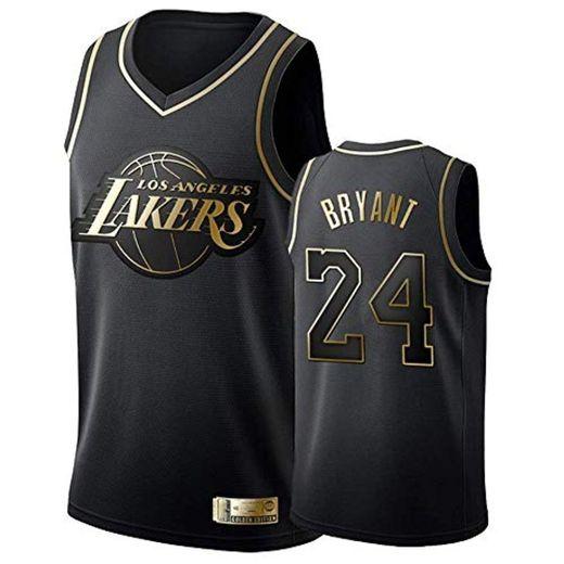 Camiseta de Baloncesto para Hombre, Los Angeles Lakers #24 Kobe Bryant. Bordado