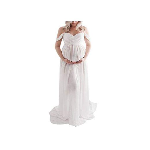 Premamá Vestido de Maternidad Maxivestido de Novia Dama de Honor para Sesión Fotográfica de Embarazada Disparar Largos Vestidos de Fiesta Noche Fannyfuny