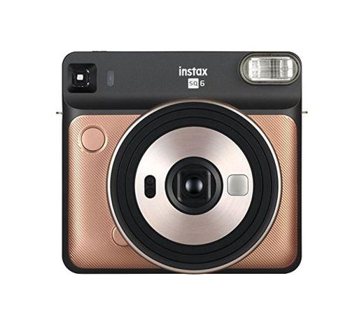 Fujifilm Instax SQ6 - Cámara analógica instantánea Formato Cuadrado, Color Dorado