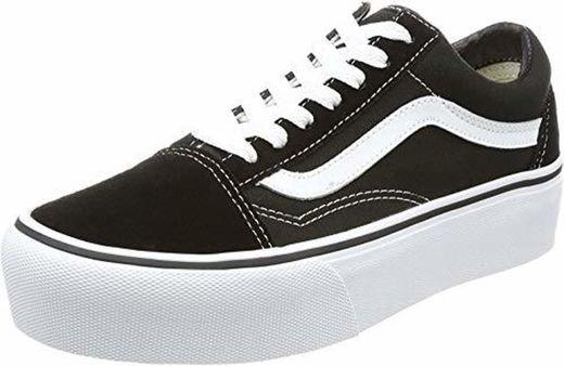 Vans Old Skool Platform, Zapatillas para Mujer, Negro