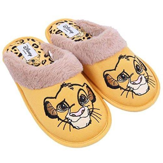 Disney The Lion King Pantuflas 3D Simba para niños y niñas con