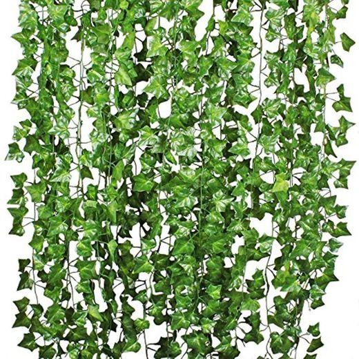 Plantas Hiedra Artificial Decoración Interior y Exterior