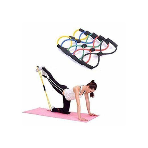 Cuerda Banda Elástica Tubo Tipo 8 para Gimnasio Entrenamiento Rehabilitación Yoga Pilates