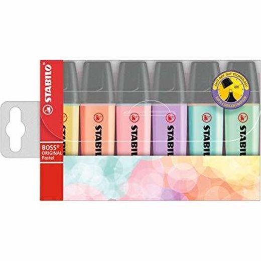 STABILO BOSS Original PASTEL - Marcador - Estuche 6 colores ...
