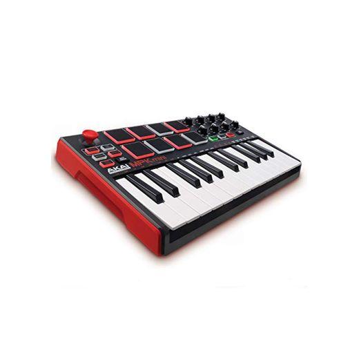 AKAI Professional MPK MINI MKII - Teclado controlador MIDI USB portátil con