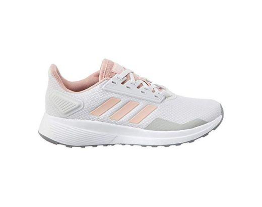 adidas Duramo 9, Zapatillas de Carretera para Mujer, Dash Grey Pink Spirit