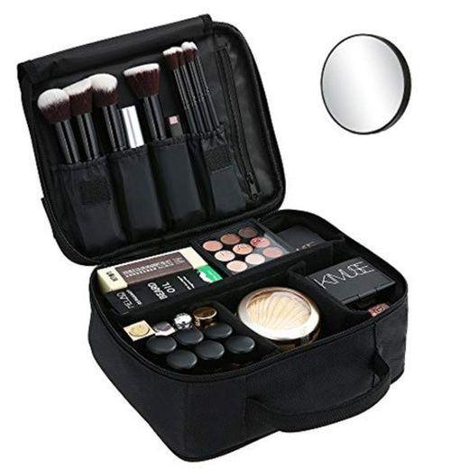 Bolsa de Maquillaje Ligera PortátilBolsa de Almacenamiento de Maquillaje con Asa Acolchada
