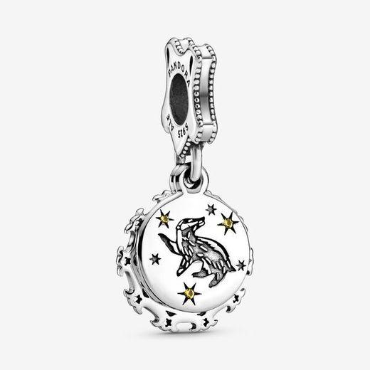Harry Potter, Hufflepuff Dangle Charm   Silver - Pandora Jewelry