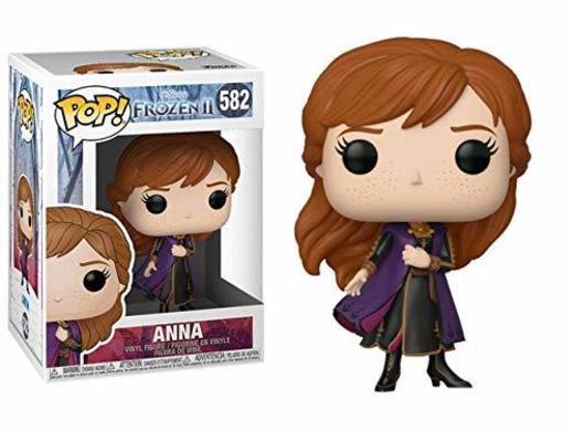 Funko- Pop Disney: Frozen 2-Anna Figura Coleccionable, Multicolor