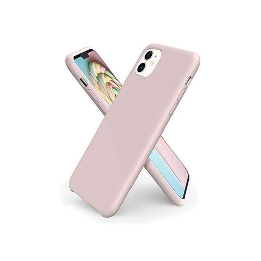 ORNARTO Funda Silicone Case para iPhone 11, Carcasa de Silicona Líquida Suave
