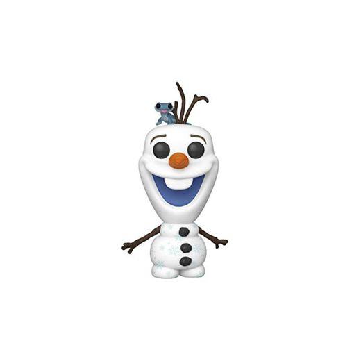 Funko- Pop Disney: Frozen 2-Olaf with Bruni Figura Coleccionable, Multicolor