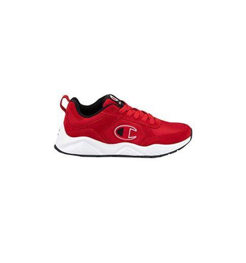 Champion 93Eighteen tenis con cordones para hombre, Rojo