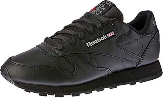 Reebok Classic Leather - Zapatillas de cuero para hombre, color negro