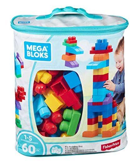 Mega Bloks Bolsa clásica con 60 bloques de construcción, juguete para bebé