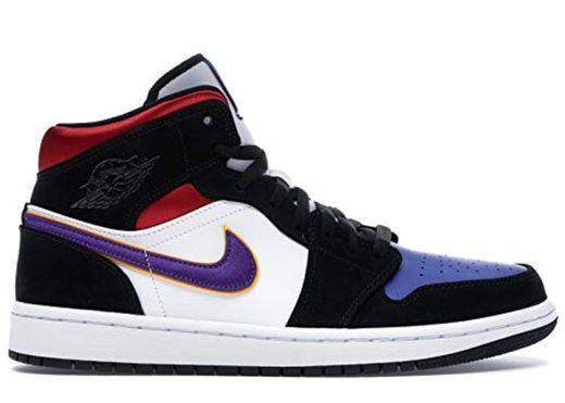 Nike Air Jordan 1 Mid Se, Zapatos de Baloncesto para Hombre, Negro