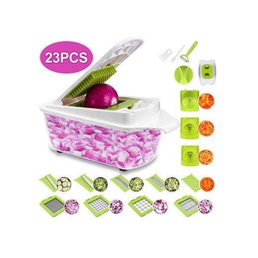 Sedhoom 23 Piezas Cortador de Verdura Mandolina de Verduras Multifuncional Mandolina de