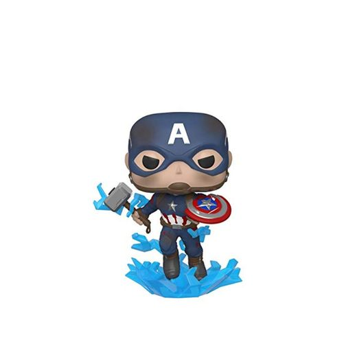 Funko- Pop Marvel: Endgame-Captain America w/BrokenShield & Mjolnir Capt A w/BrokenShield&Mjolnir Collectible