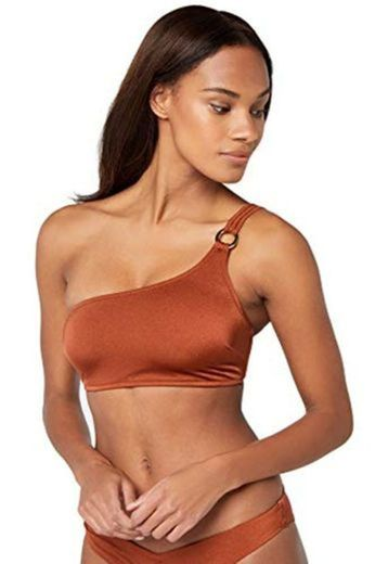 Marca Amazon - IRIS & LILLY Parte de Arriba de Bikini asimetrico