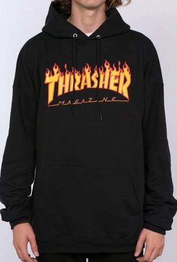 Thrasher Flame Black