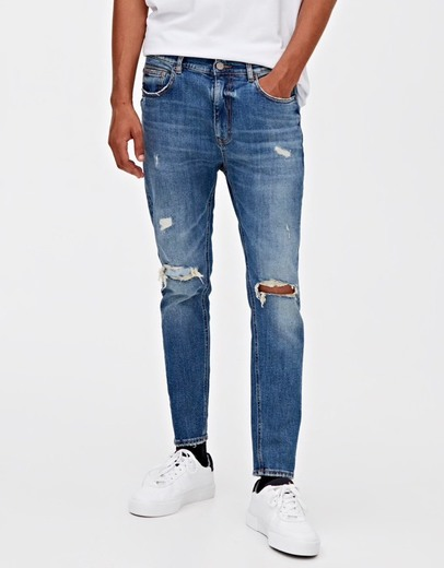 Jeans Carrot Fit Rotos