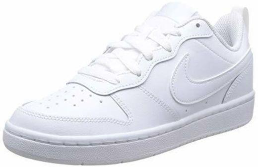 Nike Court Borough Low 2, Zapatillas de Baloncesto para Niños, Blanco