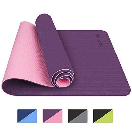 TOPLUS Esterilla Yoga Antideslizante Nivel Profesional Alfombrilla de Yoga Esterilla Pilates Esterilla