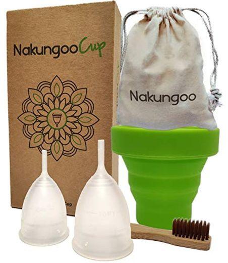 NakungooCup Copa Menstrual Kit Suave Organica Certificado 2 Copas en Talla S
