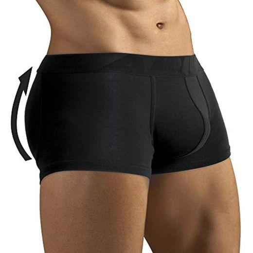 ARIUS Calzoncillo Boxer con Relleno Trasero para Aumentar el Volumen y tamaño