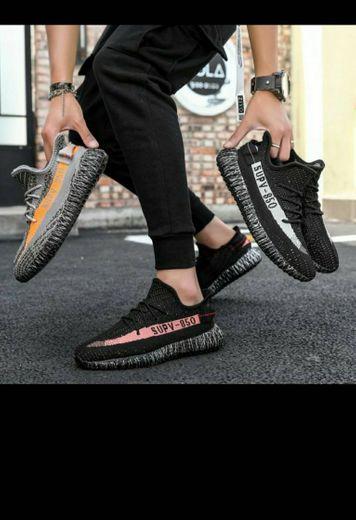 Verano hombres y mujeres zapatos deportivos, con red .