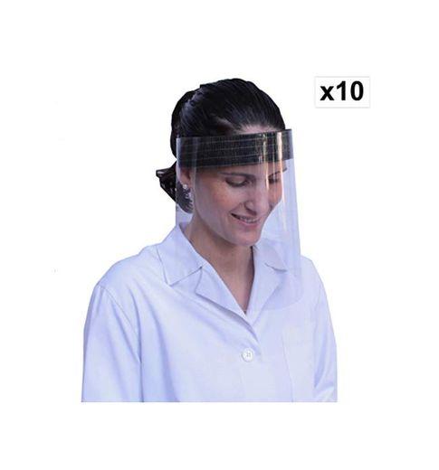 KMINA - Pantalla Protección Facial Transparente, Pantalla Protectora Cara, Protector Facial, Visera