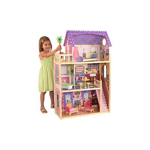 KidKraft- Kayla Casa de muñecas de madera con muebles y accesorios incluidos,