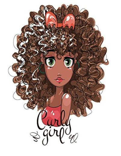 Curly Girl: Quote Cover Kids Large Ruled Notebook Lined Exercise Journal with