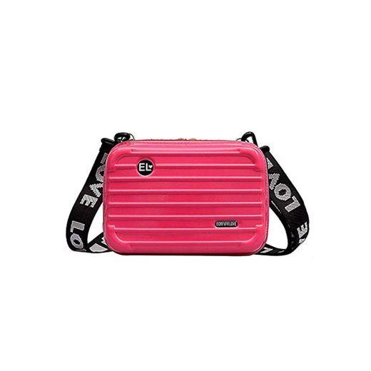 Volwco - Mini maleta para mujer, resistente al agua, a prueba de