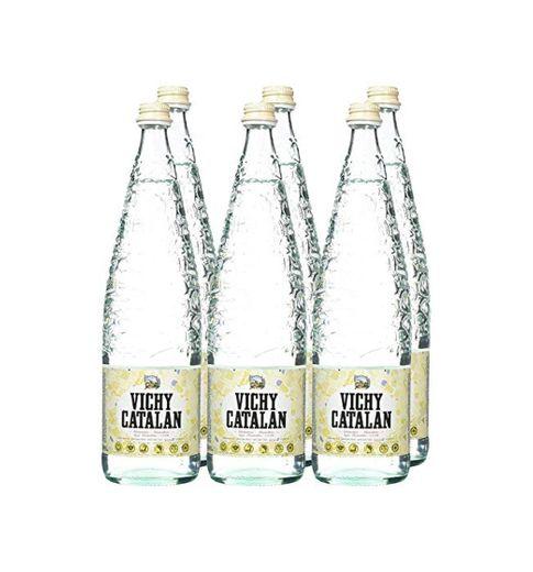 Vichy Catalán Agua Mineral con Gas botella cristal 1 litro