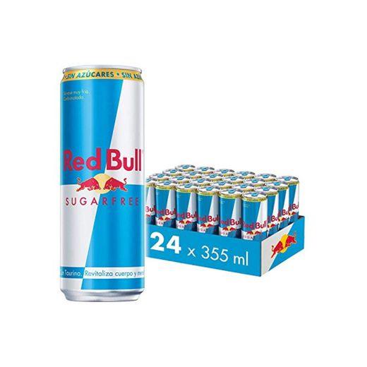 Red Bull Bebida energética, Sin Azúcar Sugarfree - 24 latas de 355