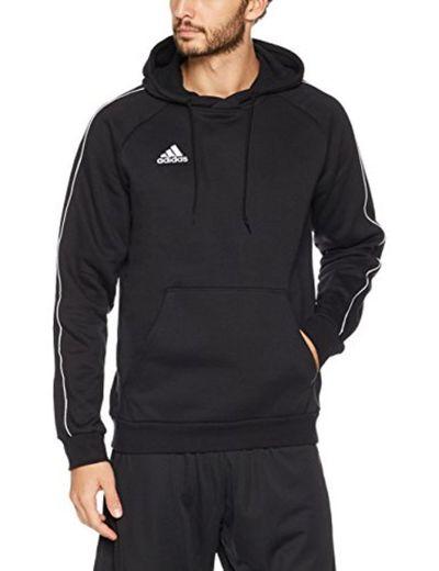 adidas Core18 Hoody Sweatshirt, Hombre, Negro
