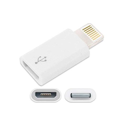 Ociodual Adaptador Conversor de Micro USB a 8 Pin Compatible con iPhone