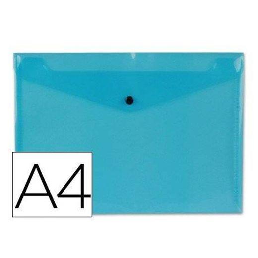 Carpeta tamaño sobre Liderpapel con cierre de broche Color azul ...