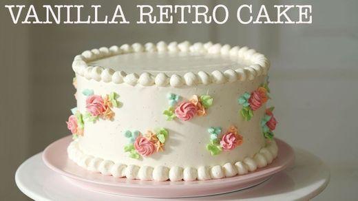 Retro style Vanilla Cake with German buttercream