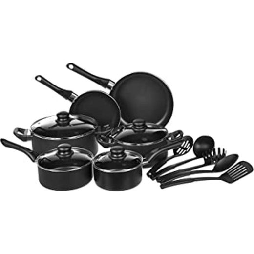 AmazonBasics - Juego de utensilios de cocina antiadherentes