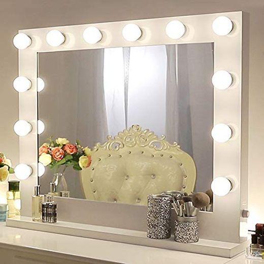 Chende Hollywood Espejo de Maquillaje con iluminación Ajustable para cosmético