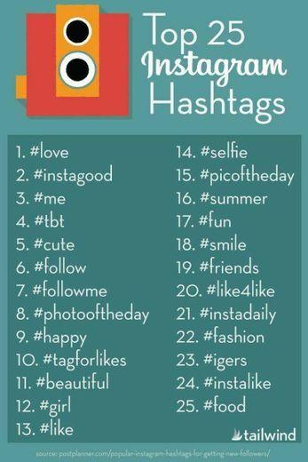 #25 hashtag para melhor engajamento.